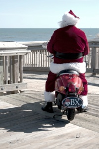 Santa on his bike